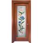 Дверь со стеклом Ена - Витраж