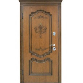"Входная дверь""Престиж Орех"" Дуб+Патина 880х2040"