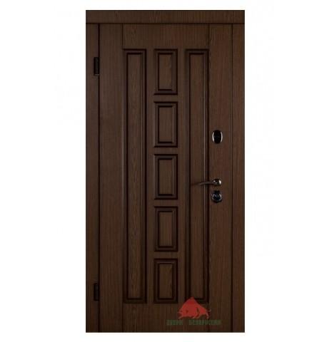 Входная дверь Квадро-В дуб+патина 880x2040х85